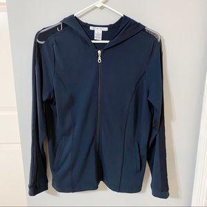 CAbi Dark Blue Athletic Jacket w/ Hood